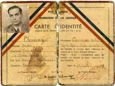 Juge de paix à Bou Saâda en 1947. Juge de paix à Bou Saâda, Algérie.