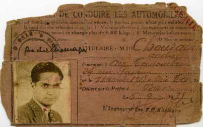 Premier permis de conduire, 1939